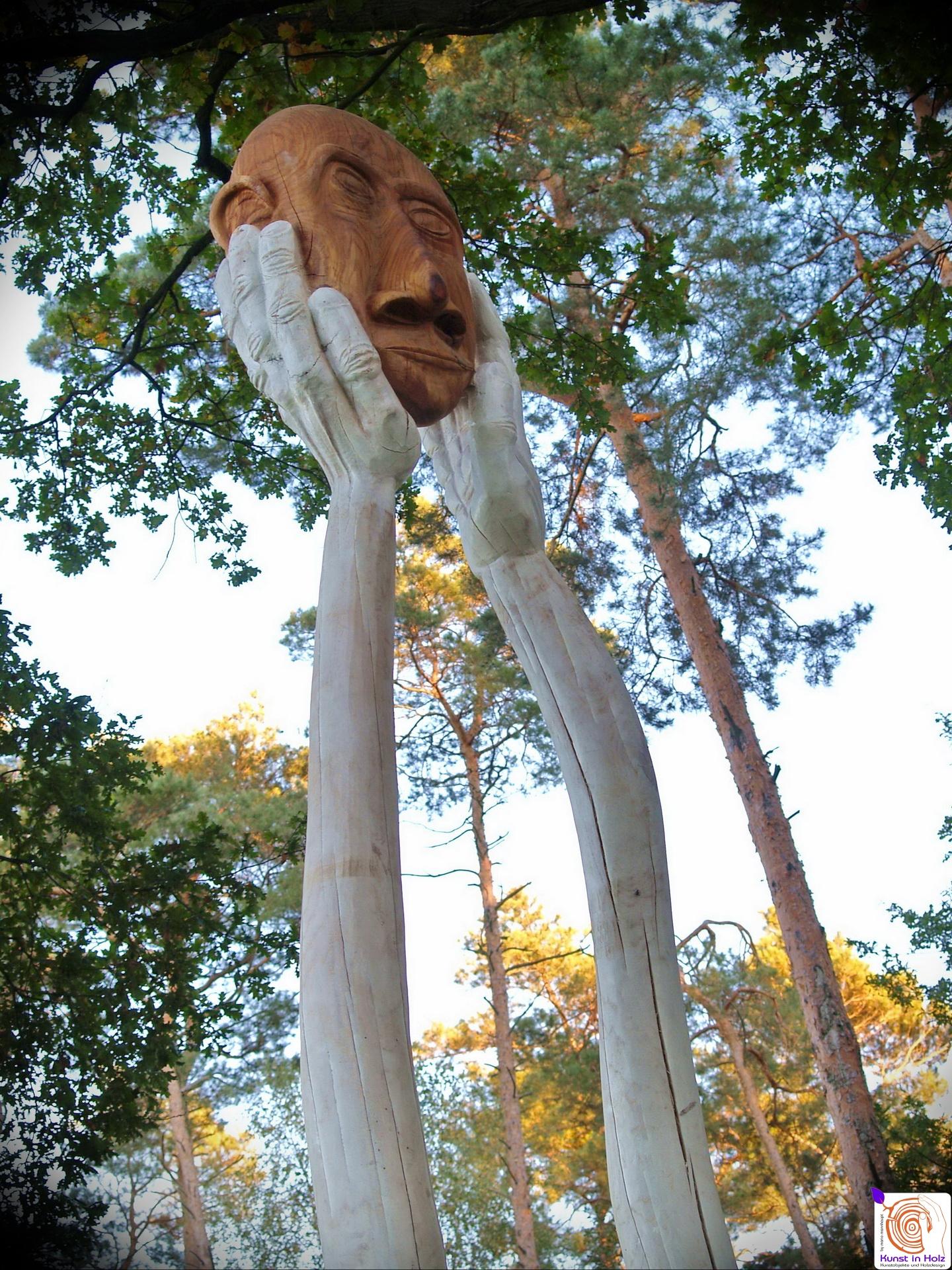 Kopflos - Wetterfeste Outdoor Skulptur aus Eiche