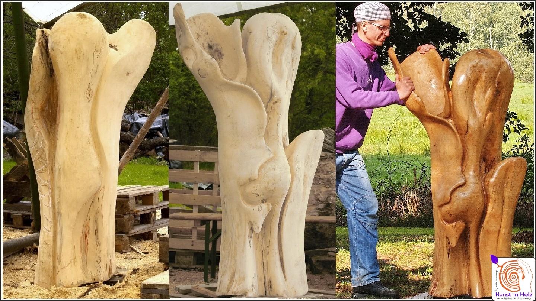 Wunderschöne Holzskulpturen aus der Bildhauerei by mario mannhaupt.