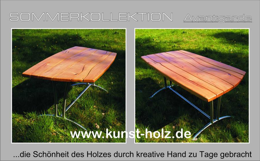 Hochwertige Gartenbank und Gartentisch aus Hartholz
