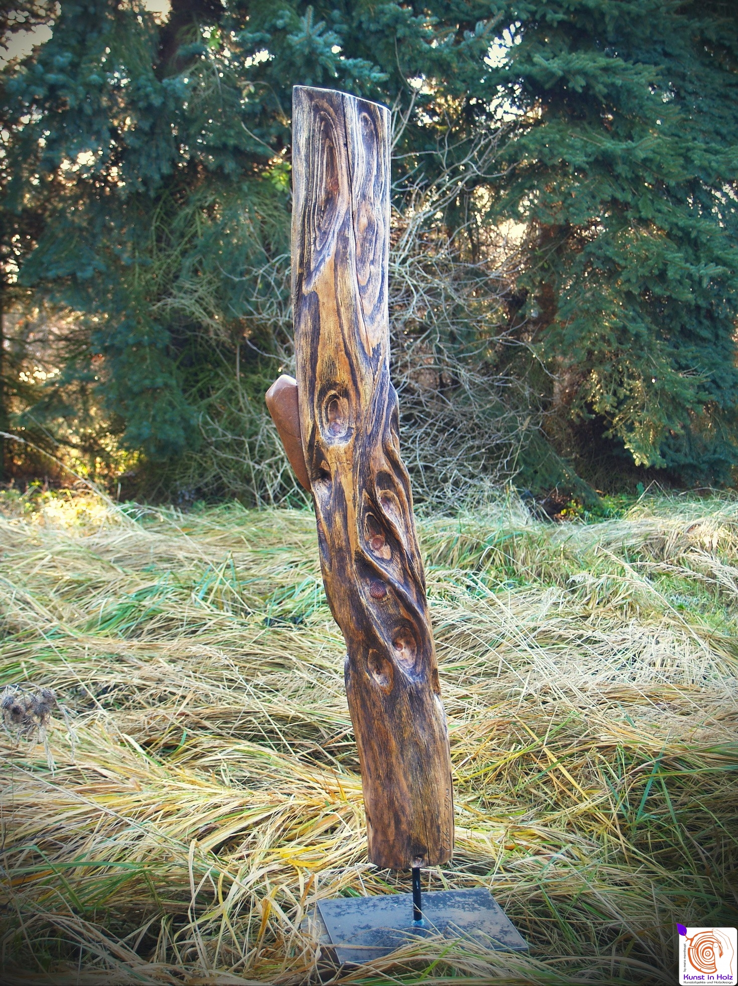 Zusammenhalt von Stein mit Holz
