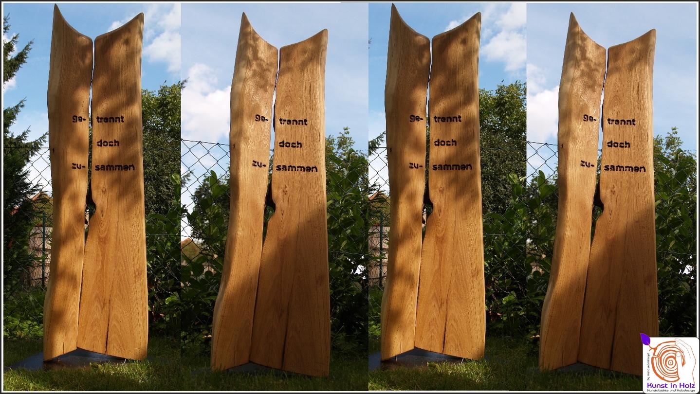 Outdoor Skulptur – Getrennt 2007-08 - Kunst in HolzKunst in Holz