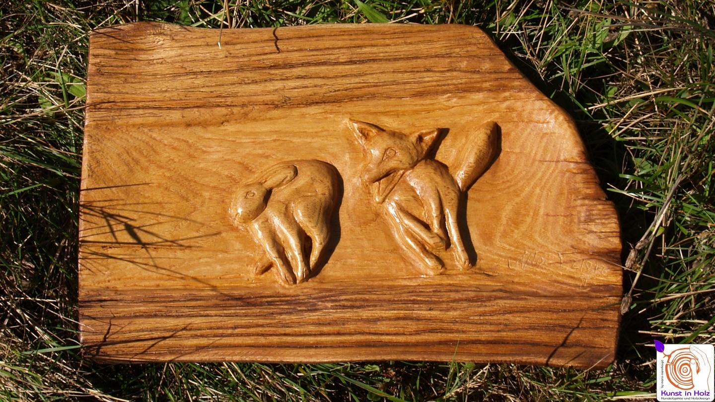 Hasenjagd - Bildhauerei Mario Mannhaupt