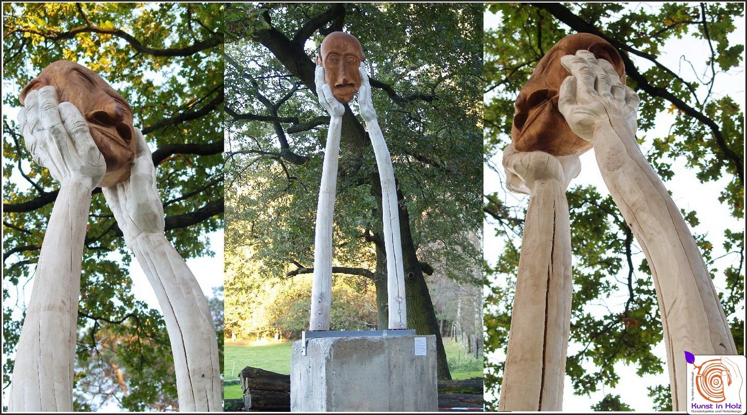 Kopflos - Skulptur aus Eichen-Holz von Mario Mannhaupt