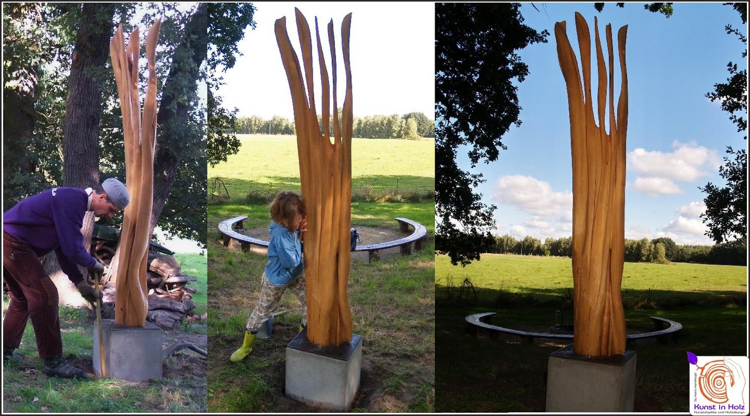 Gedankenlos - Kunst in Holz bei Mario Mannhaupt