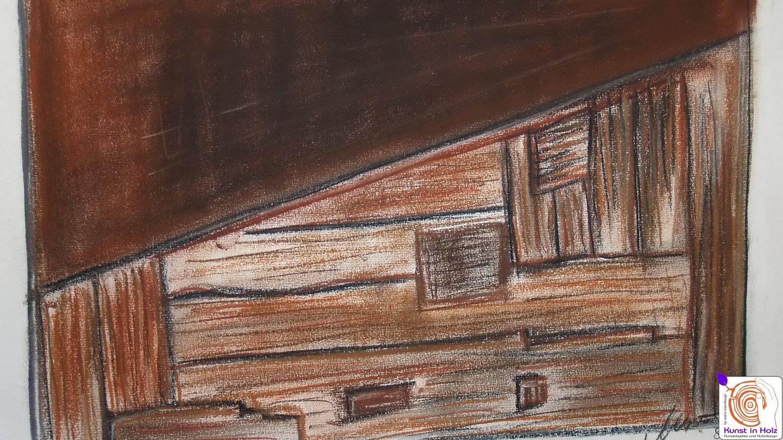 Wandgestaltung mit Holz und Stahl