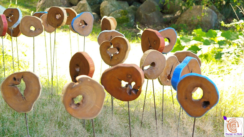 Holzobjekte - Kunst für den Garten
